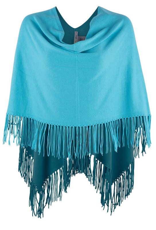 Carolina Grace Cotton and Cashmere Poncho - Antigua- Front