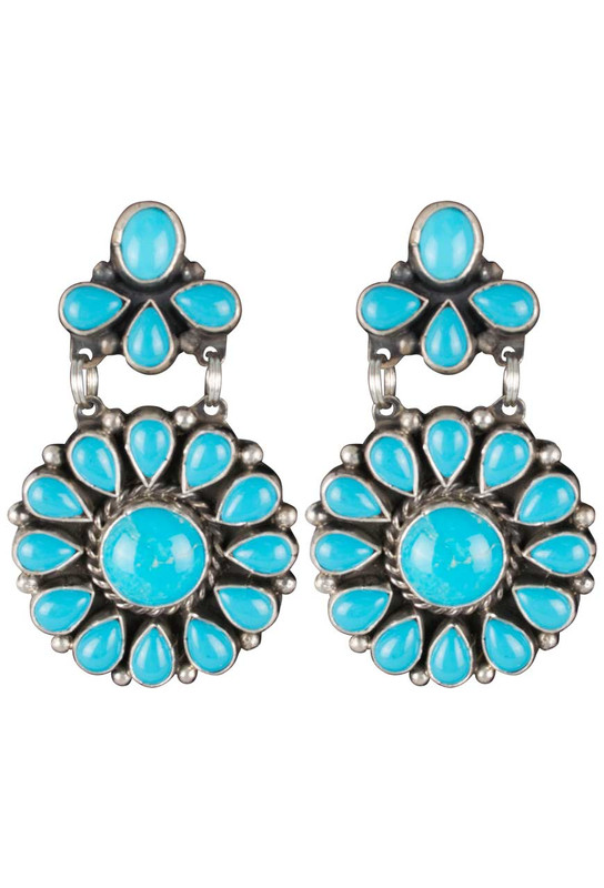 Rocki Gorman Blue Turquoise Circle of Life Earrings