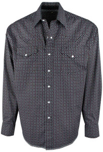 Stetson Black Constellation Print Snap Shirt - Front