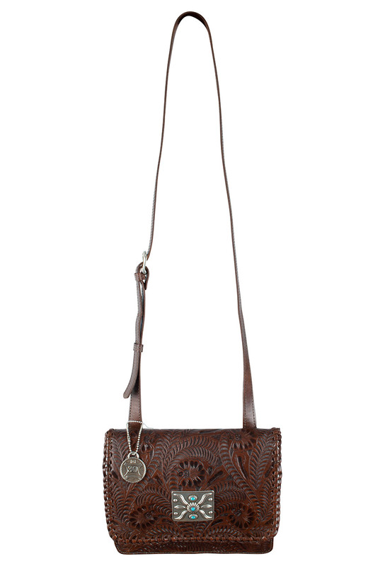 American West Grand Prairie Flap Bag - Brown - Front