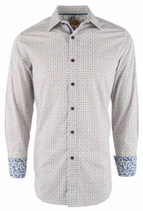 Robert Graham Sandy Creek Cream Sport Shirt - Front