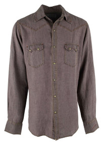 Ryan Michael Sawtooth Pick Stitch Snap Shirt - Mesquite - Front