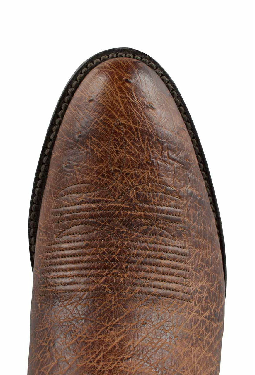 Black Jack For Pinto Ranch Mens Burnished Cigar Smooth Ostrich