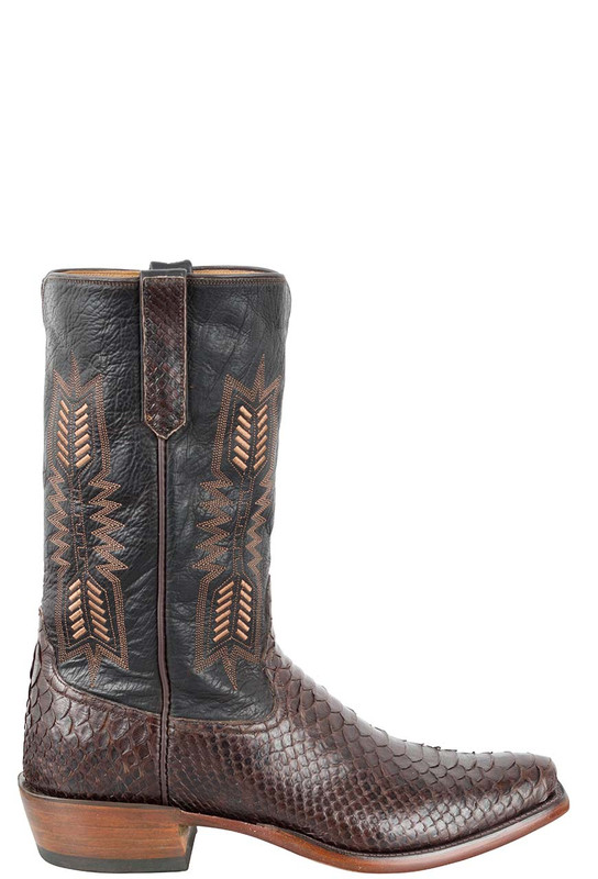 Rios Of Mercedes Men S Chocolate Python Boots