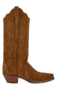 Lucchese Women's Snuff Suede Repello Matador Cord Boots - Side