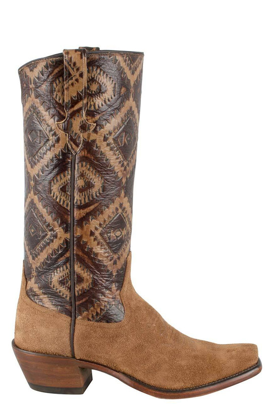Rios Of Mercedes Womens Toast Kechi Embossed Remuda Boots