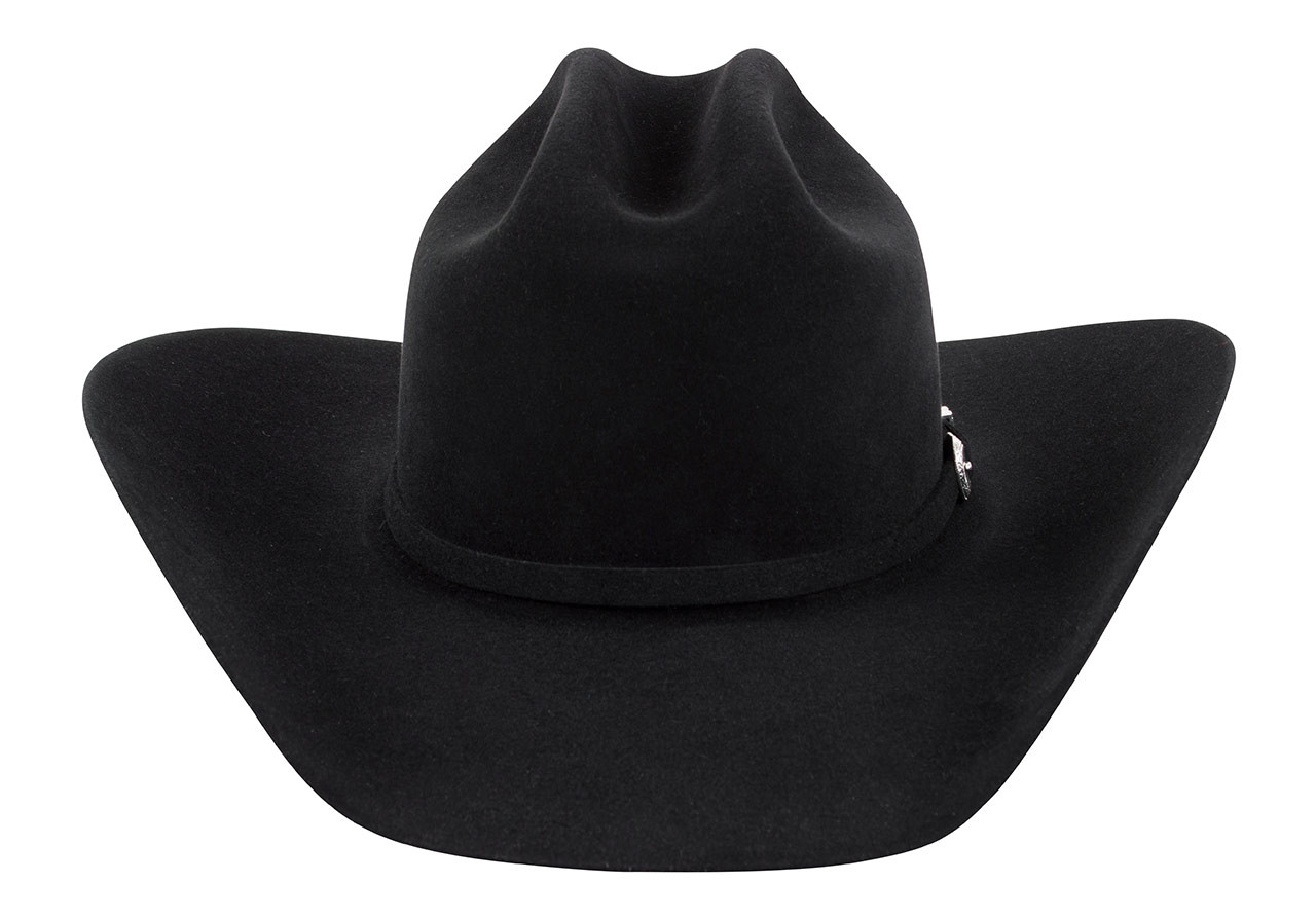 41559ce9b006c American Hat Co. 7X Lucky Cattleman Felt Hat - Black - Pinto Ranch