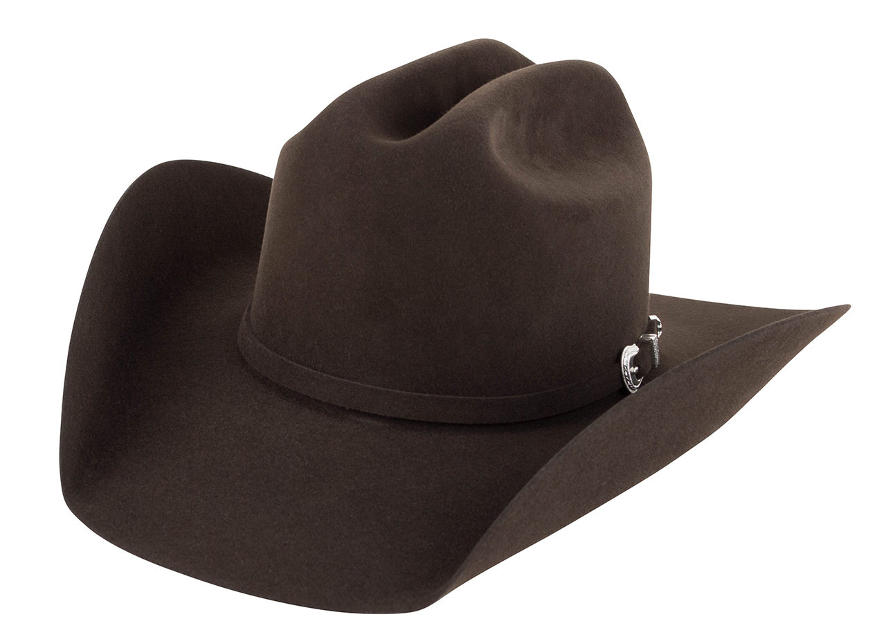 b573148a43632 American Hat Co. 7X Lucky Cattleman Felt Hat - Chocolate - Pinto Ranch
