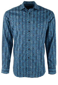 David Smith Australia Royal Aztec Print Shirt -Front