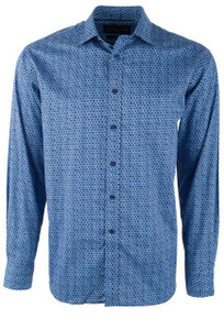 David Smith Australia Marine Honeycomb Print Shirt -Front