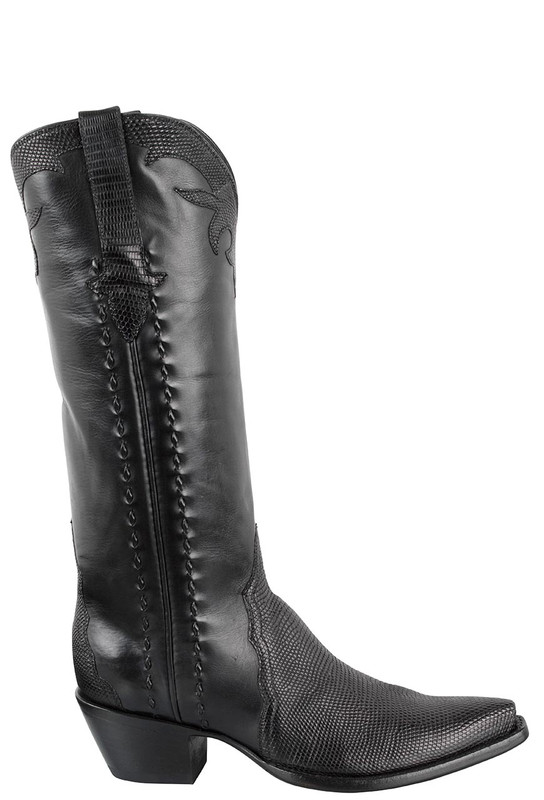 STALLION WOMEN'S BLACK LIZARD TRIAD BOOTS
