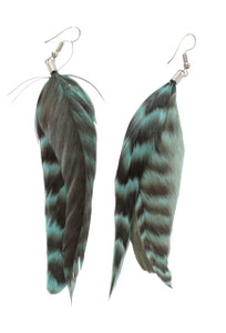 Pat Dahnke Guinea Feather Earrings