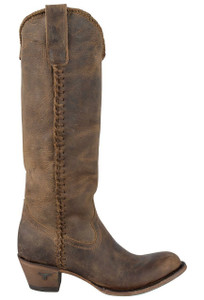 Lane Women's Distressed Brown Plain Jane Boots - Side
