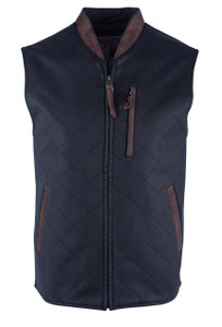 Madison Creek Quilted Zipper Vest - Black - Front