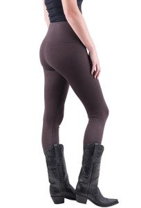 Lysse Center Seam Ponte Leggings - Espresso