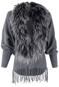 Dolce Cabo Curly Lamb Knit Cocoon - Front