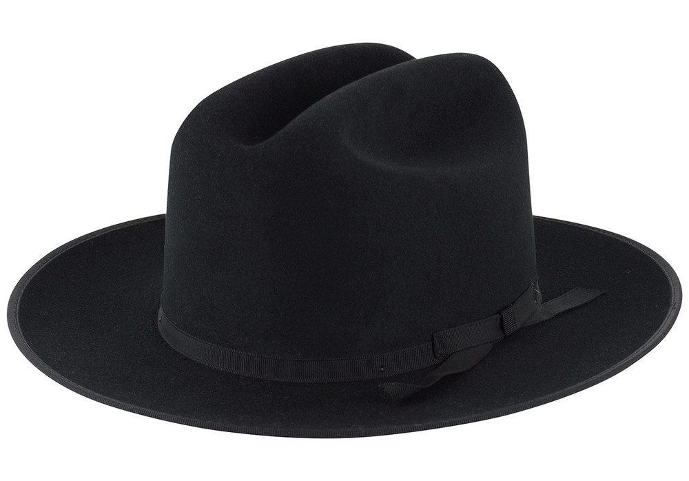 0757fe88f78cb Stetson 6X Open Road Felt Hat - Black - Pinto Ranch