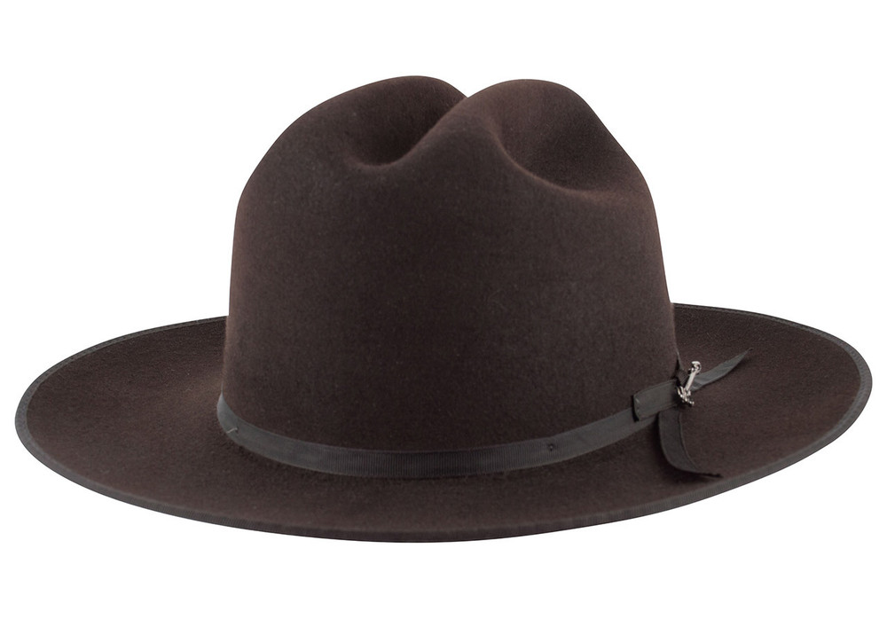 Stetson 6X Open Road Felt Hat - Chocolate - Pinto Ranch 67ee8357947d