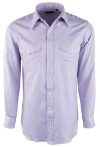 Pinto Ranch YY Collection Solid Lavender Herringbone Shirt - Front