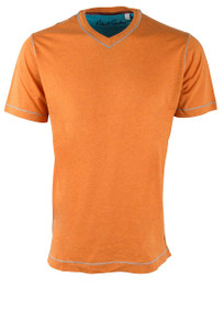 Robert Graham Nomads Heather Orange Tee - Front