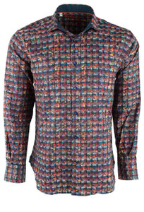 Pinto Ranch Berry Cellular Shirt - Front