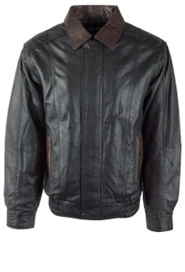 Scully Black and Chocolate Lightweight Lamb Jacket - Front