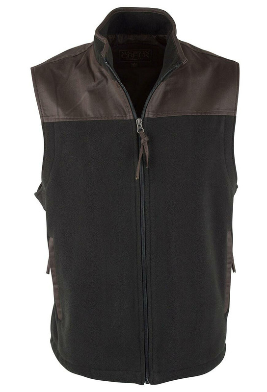 Madison Creek Black Mountain Polar FLeece Vest - Front