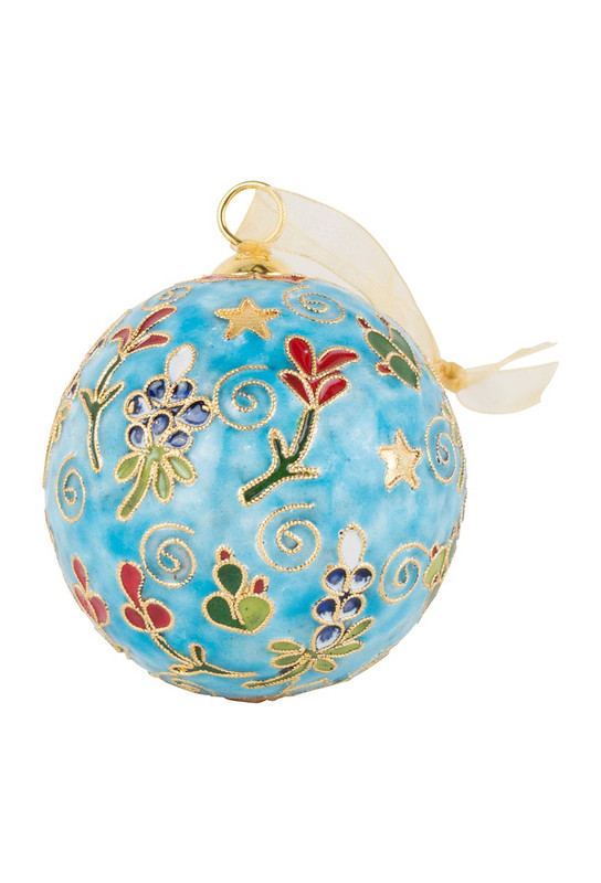 Bluebonnets Cloisonne Ornament
