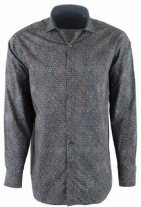 Bugatchi Midnight Tapestry Shirt - Front