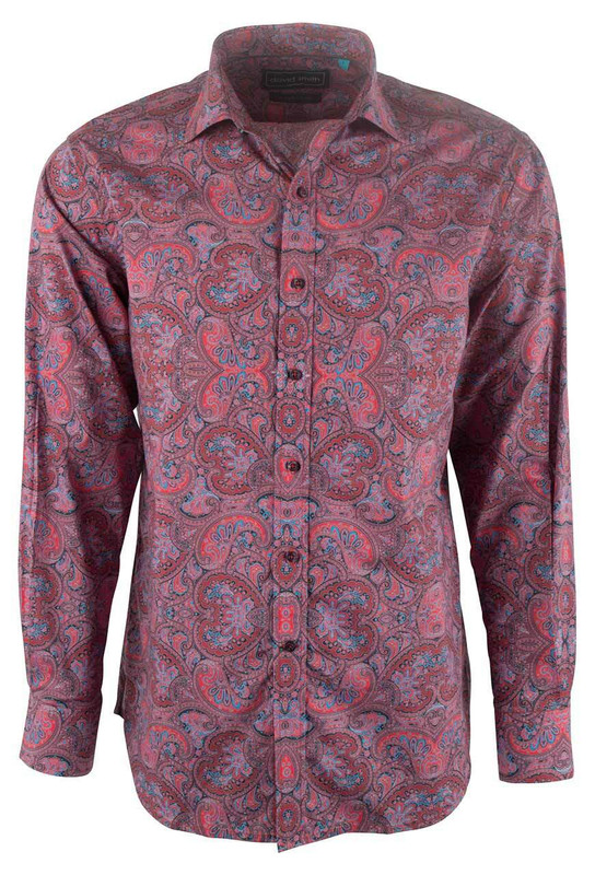 David Smith Australia Tuscan Peyton Print Shirt - Front
