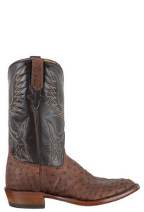 Rios of Mercedes Men's Sienna Full-Quill Ostrich Boots - Side