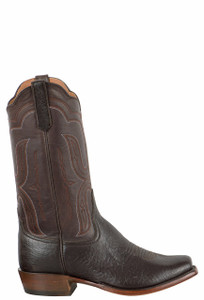 Rios of Mercedes Men's Chocolate Bolivian Javelina Boots - Side
