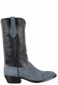 Stallion Men's Light Gray Elephant Boots - Side