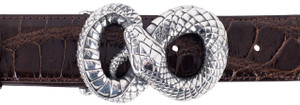 "Jeff Deegan Figure 8 Snake 1 1/2"" Trophy Buckle"