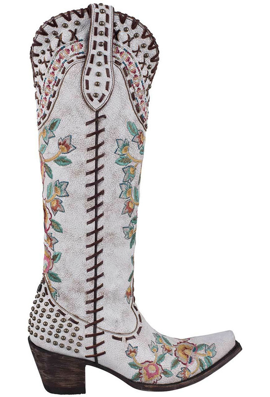 DOUBLE D RANCH WHITE ALMOST FAMOUS BOOTS