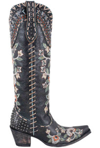 Double D Ranch by Old Gringo Black Almost Famous Boots - Side