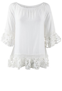 Bronte Reese Cutout Lace Top - Front