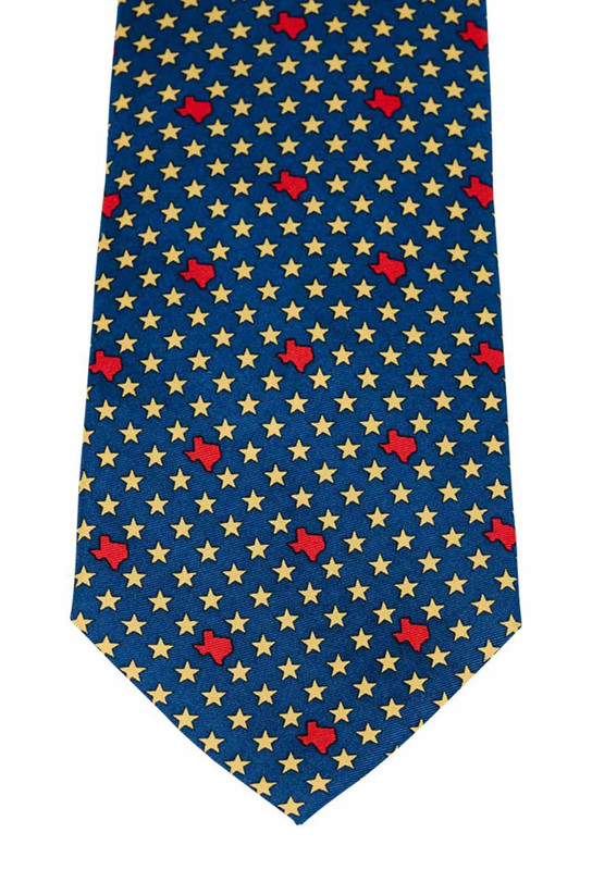 Paris Texas Apparel Co. States & Stars Tie - Navy - Front