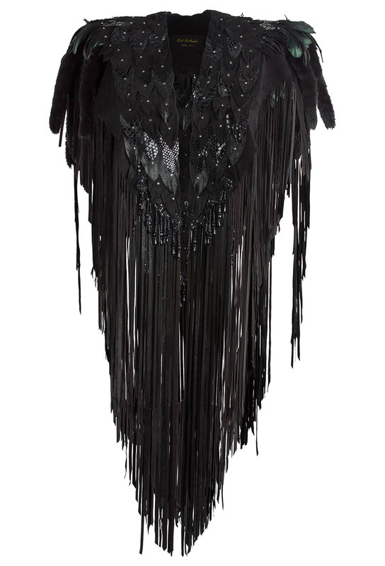 Pat Dahnke Big Feathered Tunic - Front