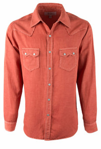 Ryan Michael Sawtooth Silk Snap Shirt - Campfire - Front