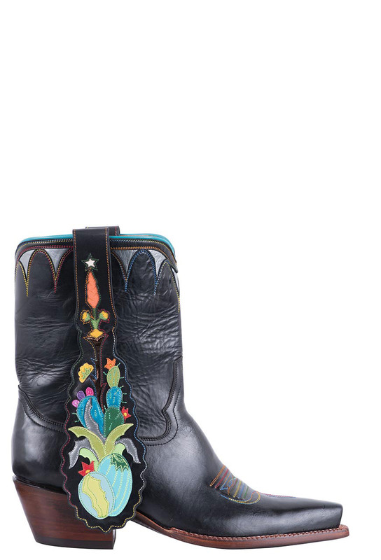 Rocketbuster Women's Black Cactus Boots - Side