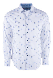 Robert Graham Reid White Shirt - Front