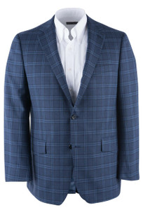Blue Plaid Western Sport Coat - Front