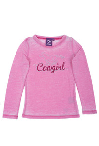 Kids - Cowgirl Hardware Youth Glitter Horse Crewneck Shirt - Front