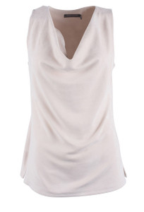 209 WST 38 Sleeveless Faux Suede Top - Front
