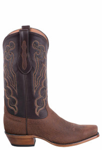 Tony Lama Signature Series Men's Red Brown Alabama Kangaroo Boots - Side