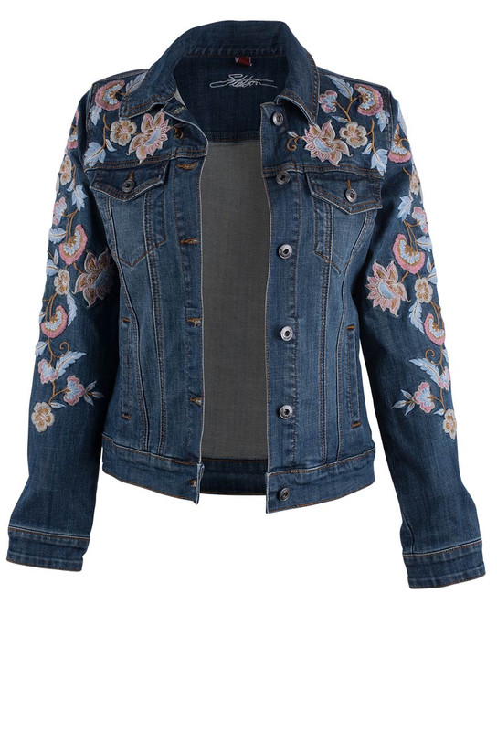 Stetson Embroidered Denim Jacket - Front