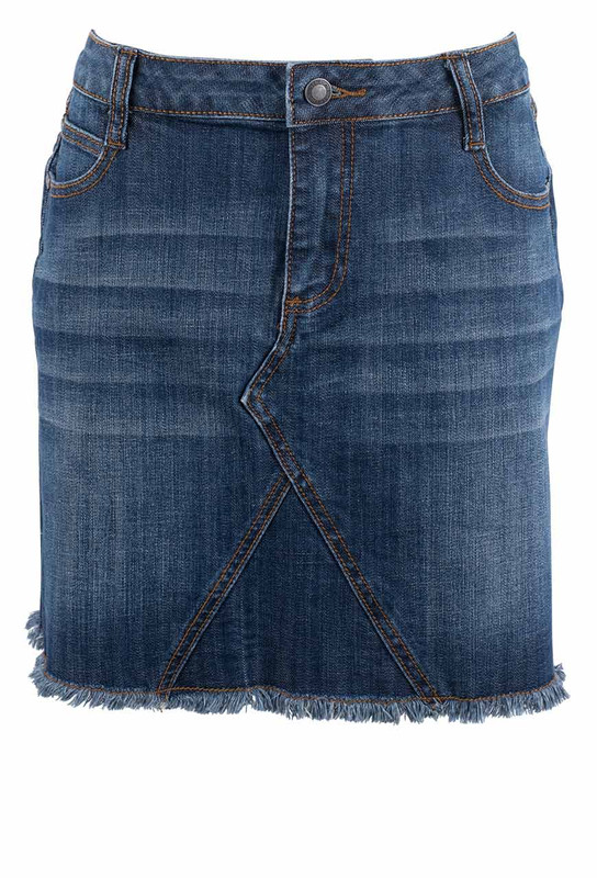 Stetson Dark Wash Denim Skirt - Front