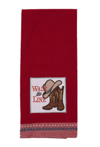 Dish Towel - Walk the Line Embellished Kitchen Towel