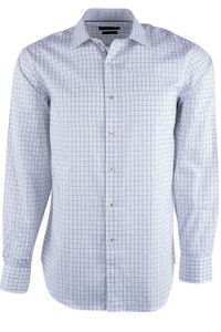 Bugatchi White Fancy Check Shirt - Front